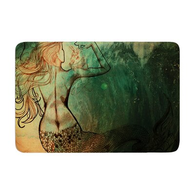Theresa Giolzetti Poor Mermaid Memory Foam Bath Rug