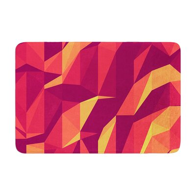 Strawberringo Abstract Mountains Abstract Memory Foam Bath Rug