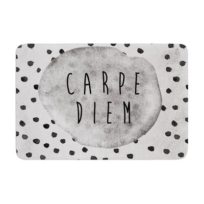 Vasare Nar Carpe Diem QuoteMemory Foam Bath Rug