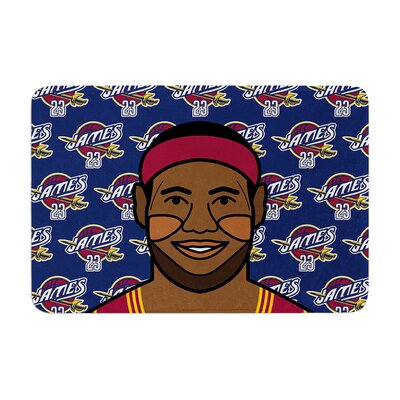 Will Wild Lebron James Basketball Memory Foam Bath Rug