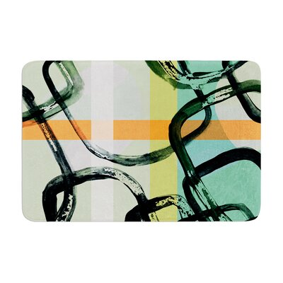 Theresa Giolzetti Sixties Stripe Memory Foam Bath Rug