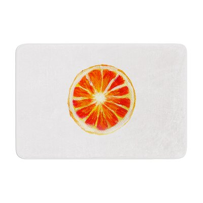 Theresa Giolzetti Grapefruit Memory Foam Bath Rug