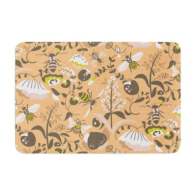 Very Sarie Hope for the Flowers I Coral Memory Foam Bath Rug