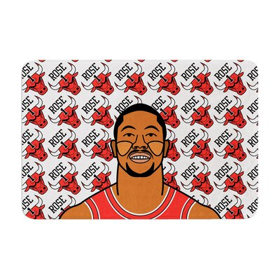 Will Wild Derrick Rose Basketball Memory Foam Bath Rug
