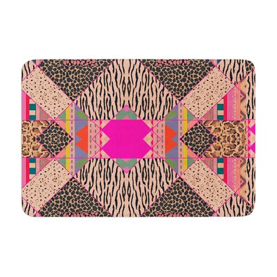 Vasare Nar New Wave Zebra Pattern Memory Foam Bath Rug