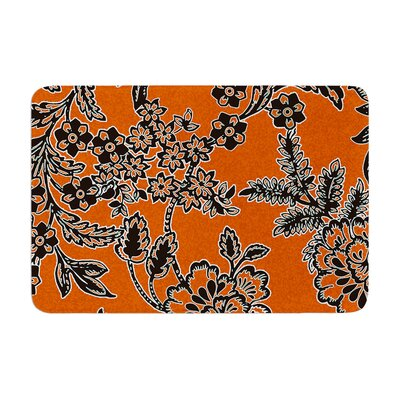 Vikki Salmela Blossom Memory Foam Bath Rug Color: Orange