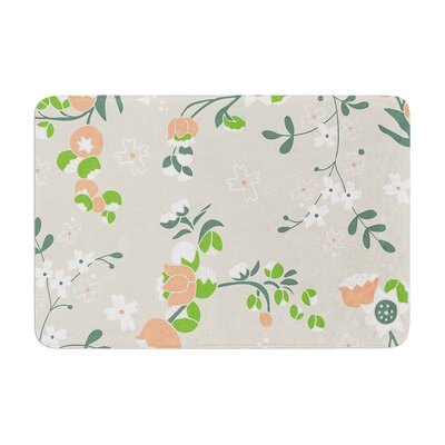Very Sarie Early Waking Floral Memory Foam Bath Rug