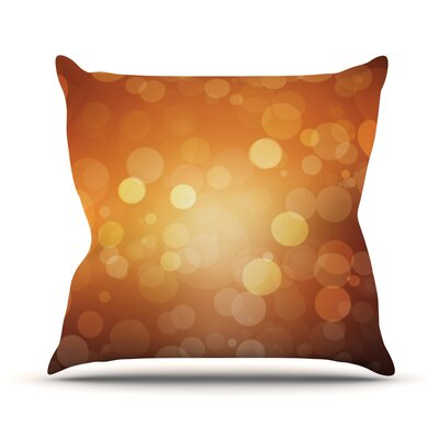 Sunrise Bokeh Throw Pillow Size: 18 H x 18 W x 3 D