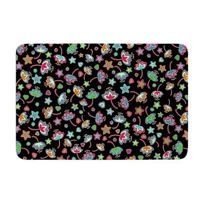 Julia Grifol Sweet Flowers Memory Foam Bath Rug