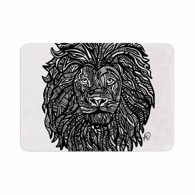 Adriana De Leon the Leon Lion Illustration Memory Foam Bath Rug