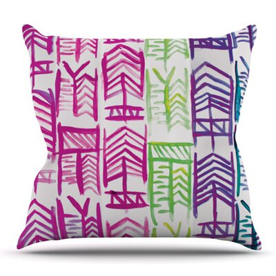 Quiver by Theresa Giolzetti Outdoor Throw Pillow Color: Pink