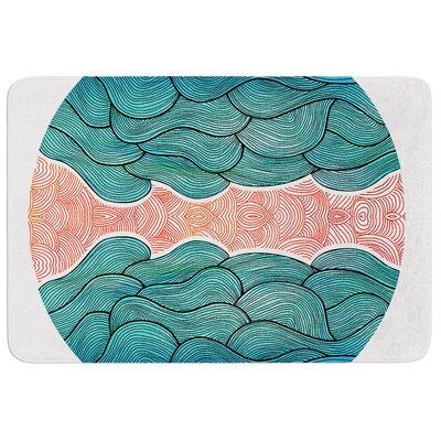 Ocean Flow by Pom Graphic Design Bath Mat