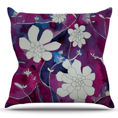 Succulent Dance by Theresa Giolzetti Outdoor Throw Pillow Color: Pink/Blue
