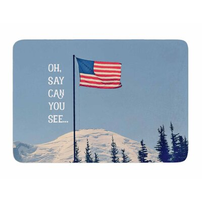 Oh Say Can You See by Robin Dickinson Memory Foam Bath Mat
