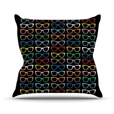 Throw Pillow Size: 16 H x 16 W, Color: Sunglasses At Night