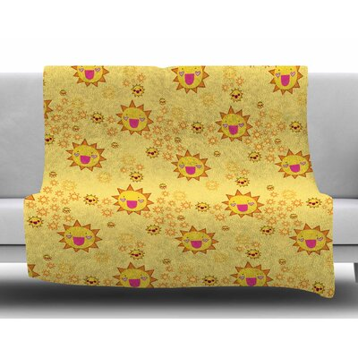 It's All Sunshine by Jane Smith Fleece Blanket