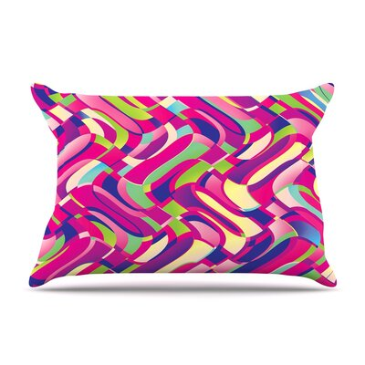 Colorful Movement by Dawid Roc Abstract Featherweight Pillow Sham