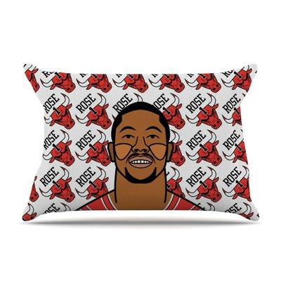 Derrick Rose by Will Wild Basketball Featherweight Pillow Sham WW1004ACS01