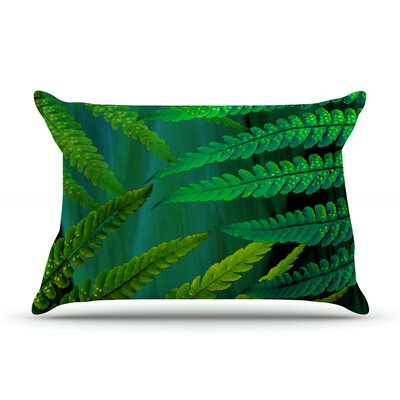 Alison Coxon Forest Fern Plant Pillow Case Color: Green