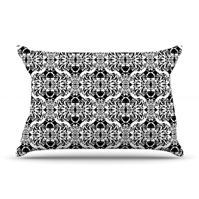 Mydeas Illusion Damask & White Pillow Case Color: Black/White