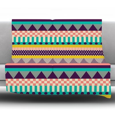 Decorative Stripes by Louise Machado Fleece Throw Blanket Size: 60 H x 50 W x 1 D