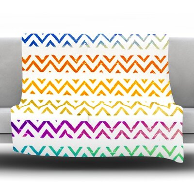 Chevron Add by Sreetama Ray Fleece Throw Blanket Size: 90 H x 90 W x 1 D