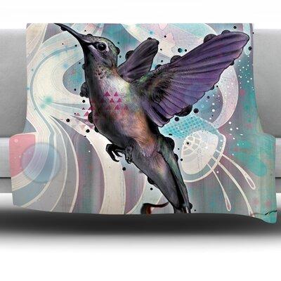 Reaching by Mat Miller Fleece Throw Blanket Size: 80 H x 60 W x 1 D