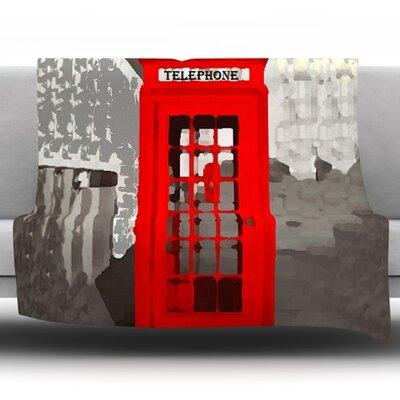 London by Oriana Cordero Fleece Throw Blanket Size: 40 H x 30 W x 1 D