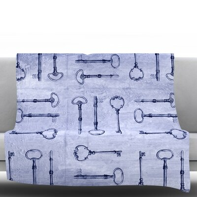 Secret Keys by Marianna Tankelevich Fleece Throw Blanket Size: 80 H x 60 W x 1 D