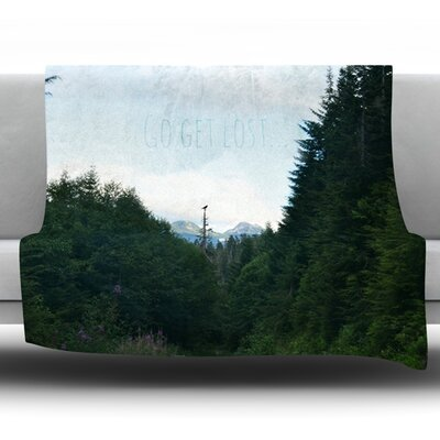Go Get Lost by Robin Dickinson Fleece Throw Blanket Size: 40 H x 30 W x 1 D