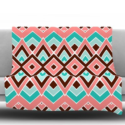 Eclectic by Pom Graphic Design Fleece Throw Blanket Size: 80 H x 60 W x 1 D