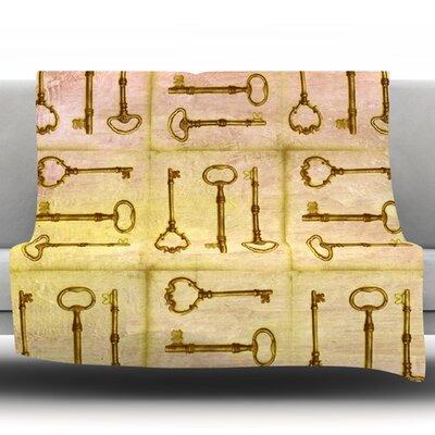 Secret Keys by Marianna Tankelevich Fleece Throw Blanket Size: 80 H x 60 W x 1 D