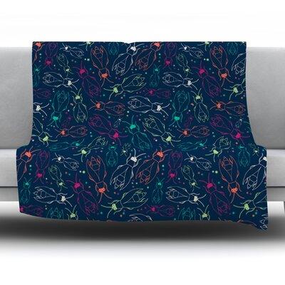 Fireflies Midnight Garden by Laura Escalante Fleece Throw Blanket Size: 60 H x 50 W x 1 D