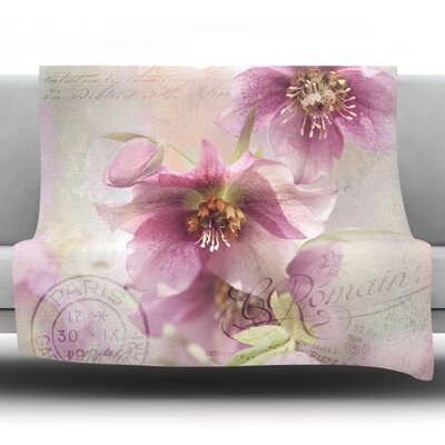 Hellabore by Sylvia Cook Fleece Throw Blanket Size: 90 H x 90 W x 1 D
