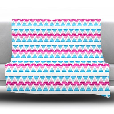 Swimming Pool Tiles by Apple Kaur Designs Fleece Throw Blanket Size: 80 H x 60 W x 1 D