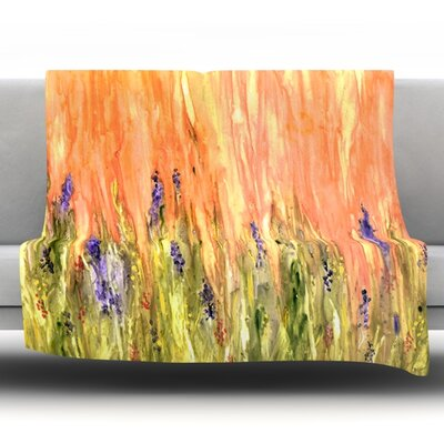 Welcome Spring by Rosie Brown Fleece Throw Blanket Size: 80 H x 60 W x 1 D