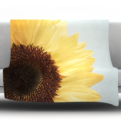Sunshine by Susannah Tucker Fleece Throw Blanket Size: 40 H x 30 W x 1 D