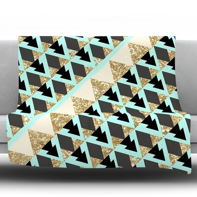 Glitter Triangles by Nika Martinez Fleece Throw Blanket Size: 90 H x 90 W x 1 D