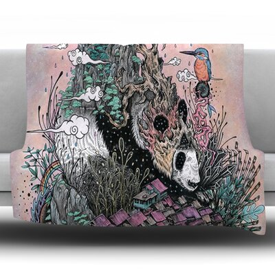 Land of The Sleeping Giant by Mat Miller Fleece Throw Blanket Size: 60 H x 50 W x 1 D