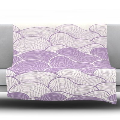 The Lavender Seas by Pom Graphic Design Fleece Throw Blanket Size: 90 H x 90 W x 1 D