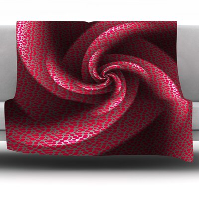 Isabellas Pinwheel by Michael Sussna Fleece Throw Blanket Size: 40 H x 30 W x 1 D