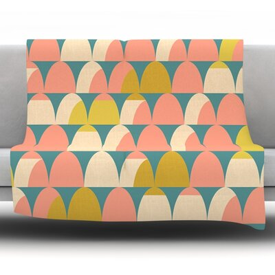 Scallops by Michelle Drew Fleece Throw Blanket Size: 80 H x 60 W x 1 D