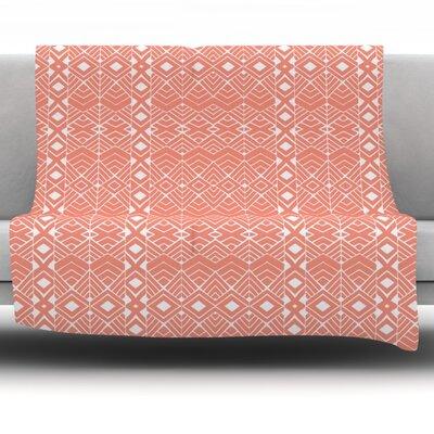 Aztec Roots by Pom Graphic Design Fleece Throw Blanket Size: 90 H x 90 W x 1 D