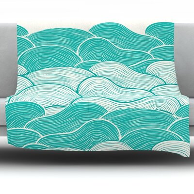 The Calm and Stormy Seas by Pom Graphic Design Fleece Throw Blanket Size: 40 H x 30 W x 1 D