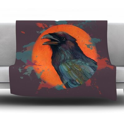 Raven Sun Alternate by Lydia Martin Fleece Throw Blanket Size: 90 H x 90 W x 1 D