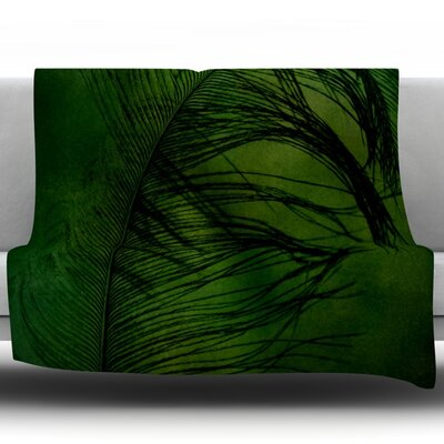 Feather by Robin Dickinson Fleece Throw Blanket Size: 60 H x 50 W x 1 D