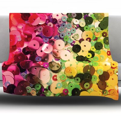 Spots by Louise Machado Fleece Throw Blanket Size: 40 H x 30 W x 1 D
