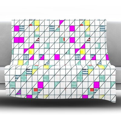 Squares by Michelle Drew Fleece Throw Blanket Size: 40 H x 30 W x 1 D