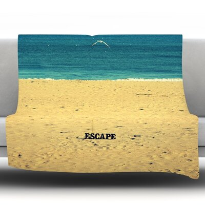 Escape by Robin Dickinson Fleece Throw Blanket Size: 40'' H x 30'' W x 1