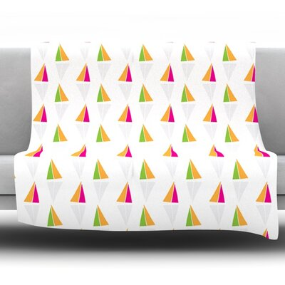 Triangles by Apple Kaur Designs Fleece Throw Blanket Size: 40 H x 30 W x 1 D